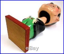 Densuke Ohmiya 1950's Asakusa Comedian Bobblehead Doll 19.5cm Vintage Used C11
