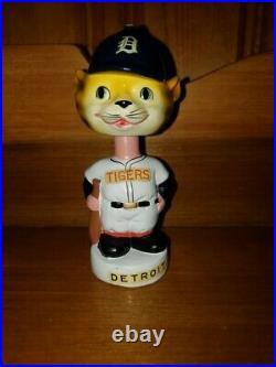 Detroit Tiger Mascot Mini Vintage Bobble Head/Bobbing Head/Nodder Gem Mint 1962