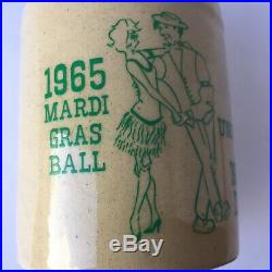 Early Vintage NOTRE DAME FIGHTING IRISH Marci Gras Ball Jug 1965 Small