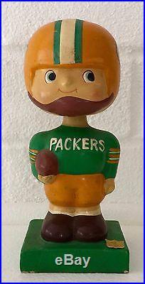 Green Bay Packers Football 1960's Vintage Bobble Head Nodder Square Base
