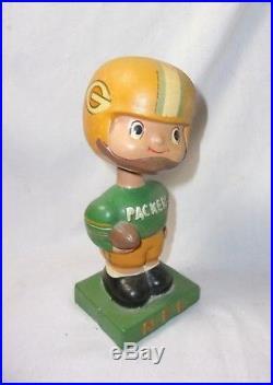 Green Bay Packers Vintage Bobble Head Nodder Doll Figure T
