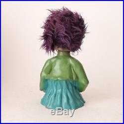 HEICO 7 vintage German bobble heads (Troll Head Hunter mid century toy)