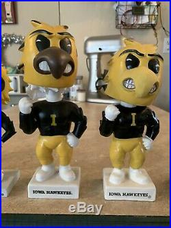 Herky The Hawk Iowa Hawkeye Bobble Head Collection BPI Silver Knight And Vintage