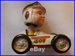 Indianapolis 500 Racer Vintage 1960's Bobbing Head Doll Nodder! Extremely rare
