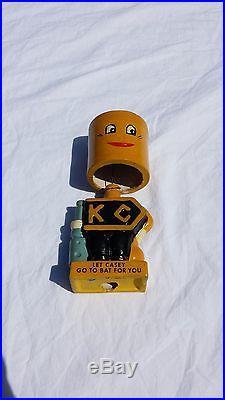 KORODY-COLYER CORP. RARE VTG PISTON BOBBLEHEAD LET CASEY GO TO BAT FOR YOU AUTO