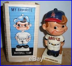 Los Angeles Angels 1962 Nodder Bobblehead Vintage Original Box! Japan
