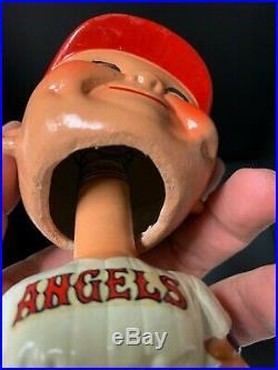 Los Angeles ANGELS Vintage Nodder Green Base Bobblehead Bobbing Bobble Head