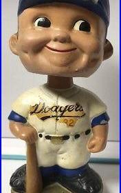 Los Angeles Dodgers MLB Gold Base Nodder Bobble Head #32 SANDY KOUFAX Vintage
