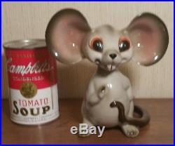 MCM Anthony Freeman Mcfarlin ceramic bobblehead mouse figurine vtg calif pottery