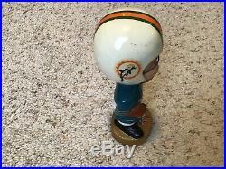 Miami Dolphins 1960s NFL Vintage Bobble Head Nodder Japan Gold Base