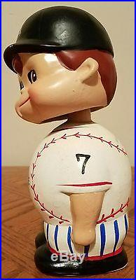 Mickey Mantle Yankees Vintage Early 60's Bobblehead Nodder Bank From Japan