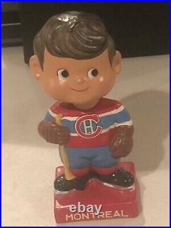 Montreal Canadians Vintage Bobblehead Hockey Nodder