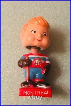 Montreal Canadians Vintage Bobblehead Mini Hockey Nodder 1962