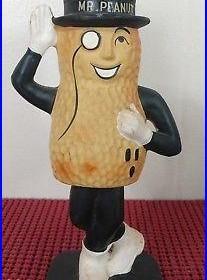 Mr. Peanut Vintage 60s 70s Era Bobble Body Bobblehead Nodder Logo Stamped Japan