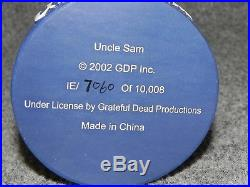 NIB 2002 Vintage Grateful Dead Uncle Sam Bobblehead Skeleton Numbered Patriotic