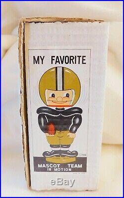 NOS Vintage 1960's NFL BOBBLEHEAD NODDER in BOX Kansas City Chiefs KC