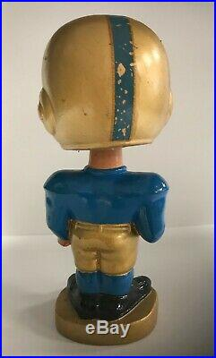 NOTRE DAME Football Vintage Nodder Gold Base Bobblehead Bobbing Bobble Head