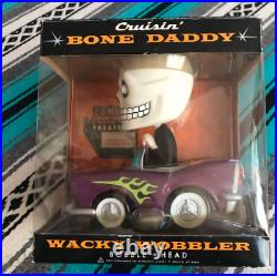 New Funko Bone Daddy Bobble-car Wacky Wobbler Bobble Head Vintage Very Rare