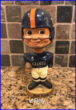 New York Giants NFL 1960s Bobblehead Vintage Rare. 7 Tall. Made In Japan