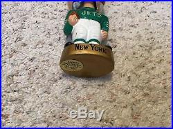 New York Jets 1960s NFL Vintage Bobble Head Nodder Japan Gold Base With Box