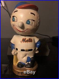 New York Mets Vintage Bobblehead Nodder Rare Mr Met Bank 6/13