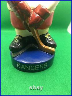 New York Rangers 9 Inch Vintage Bobble Head/Bobbing Head/Nodder Bank CLEAN