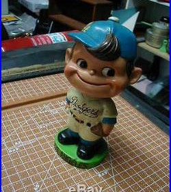 Nice Vintage 1963 Composition Los Angeles Dodgers Boy Face Bobblehead Nodder