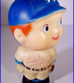 ORIGINAL VINTAGE 1960s MLB LOS ANGELES DODGERS BASEBALL MASCOT BOBBLEHEAD DOLL