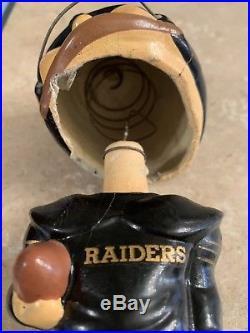 Oakland Raiders Vintage Nodder 1960s Bobble Head American Football League