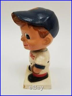 Original VTG 1960's White Base Washington Senators Baseball Nodder Bobble Head