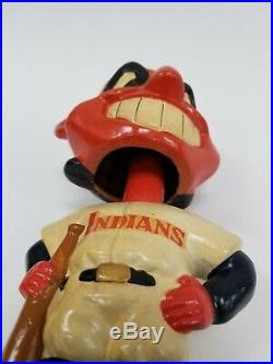 Original VTG 1962 Green Base Cleveland Indians MLB Baseball Nodder Bobble Head