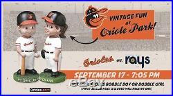 Orioles Vintage Bobblehead Boy AND Girl 9/17/16 SGA 2016 Presale