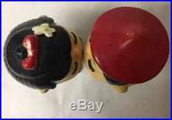 Pair Vintage Chinese Boy Girl Kissing Bobble Head Nodder Doll Original Box Japan