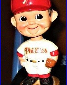 Philadelphia Phillies 1960s vintage bobblehead gold base original nodder RARE