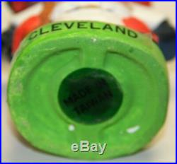 RARE 1960's Cleveland Indians Mascot Green Base Vintage Bobble Head Nodder