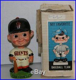 RARE 1960's San Francisco Giants Green Base Vintage Bobble Head Nodder