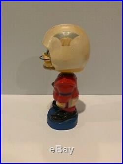 RARE Boston New England Patriots AFC Toes Up Vintage Bobblehead Nodder With Box