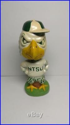 RARE NTSU Bobble Head SCRAPPY Eagle Nodder Vintage North Texas State University