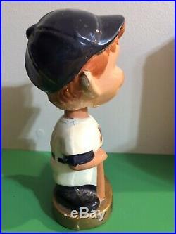 RARE VINTAGE New York Mets Bobblehead Gold Base 1960s Baseball Boy Face NY