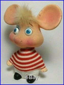 RARE Vintage 1960's Topo Gigio Rossini Japan Bobble Head Mouse Ed Sullivan Show