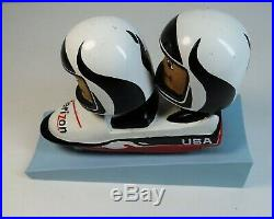RARE Vintage Double Bobblehead Verizon US Olympics Bobsled Team USA Team