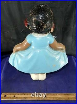 RARE Vintage Girl Dancing Nodder Bobble Head Black Americana Figure