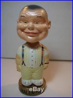 RARE Vtg Chalkware Bill Valentine Bobblehead-Arkansas Travelers/MLB Umpire/Texas