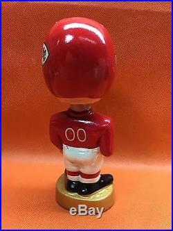 Rare 1960's Vintage Japan NFL KANSAS CITY CHIEFS Composition Bobble Head MIB