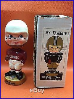 Rare 1960's Vintage Japan NFL ST LOUIS CARDINALS Composition Bobble Head MIB