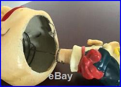 Rare Paper Mache Vintage Bobblehead Barfly So, whos drunk Wobbler Japan