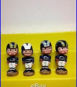 Rare Vintage 1960s Los Angeles Rams Gold Base Bobble Head Nodder Doll HTF NFL