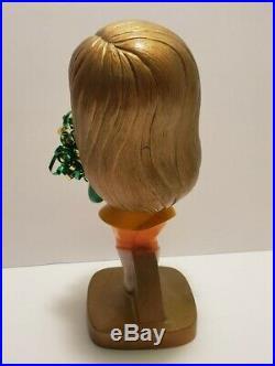 SUPER RARE Vintage Green Bay Packers NFL Cheerleader Plastic Bobblehead Nodder