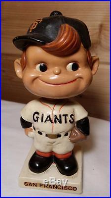San Francisco Giants Sideways Swirl Cap White Square Base Vintage Bobblehead