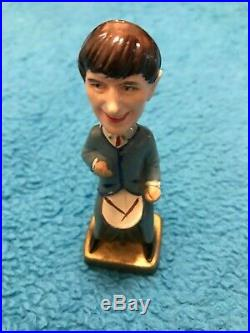 Set of 4 vintage Beatles small bobble-head figures from 1960s